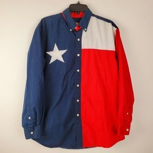 Sun River Button Down Long Sleeve Texas Flag M